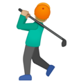 Person Golfing: Medium-Light Skin Tone on Google Android 9.0