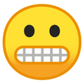 Grimacing Face on Google Android 9.0