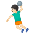 Person Playing Handball: Light Skin Tone on Google Android 9.0