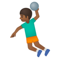 Person Playing Handball: Medium-Dark Skin Tone on Google Android 9.0
