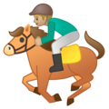 Horse Racing: Medium-Light Skin Tone on Google Android 9.0