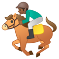 Horse Racing: Medium-Dark Skin Tone on Google Android 9.0