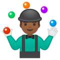 Person Juggling: Medium-Dark Skin Tone on Google Android 9.0