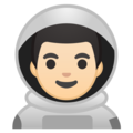 Man Astronaut: Light Skin Tone on Google Android 9.0