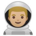 Man Astronaut: Medium-Light Skin Tone on Google Android 9.0
