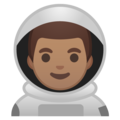 Man Astronaut: Medium Skin Tone on Google Android 9.0