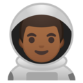 Man Astronaut: Medium-Dark Skin Tone on Google Android 9.0