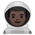 Man Astronaut: Dark Skin Tone on Google Android 9.0