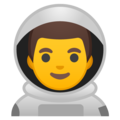 Man Astronaut on Google Android 9.0