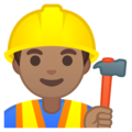 Man Construction Worker: Medium Skin Tone on Google Android 9.0