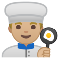 Man Cook: Medium-Light Skin Tone on Google Android 9.0