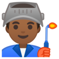 Man Factory Worker: Medium-Dark Skin Tone on Google Android 9.0