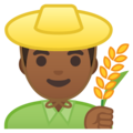 Man Farmer: Medium-Dark Skin Tone on Google Android 9.0