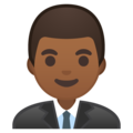 Man Office Worker: Medium-Dark Skin Tone on Google Android 9.0