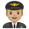 Man Pilot: Medium-Light Skin Tone on Google Android 9.0