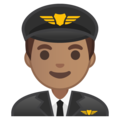 Man Pilot: Medium Skin Tone on Google Android 9.0