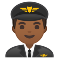 Man Pilot: Medium-Dark Skin Tone on Google Android 9.0