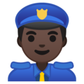 Man Police Officer: Dark Skin Tone on Google Android 9.0