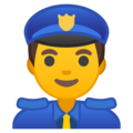 Man Police Officer on Google Android 9.0