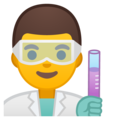 Man Scientist on Google Android 9.0