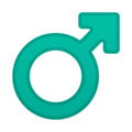 Male Sign on Google Android 9.0