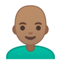 Man: Medium Skin Tone, Bald on Google Android 9.0