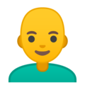 Man, Bald on Google Android 9.0