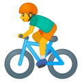 Man Biking on Google Android 9.0