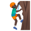 Man Climbing: Dark Skin Tone on Google Android 9.0