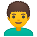Man, Curly Haired on Google Android 9.0
