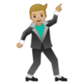 Man Dancing: Medium-Light Skin Tone on Google Android 9.0