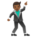 Man Dancing: Medium-Dark Skin Tone on Google Android 9.0