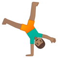 Man Cartwheeling: Medium Skin Tone on Google Android 9.0