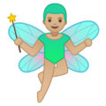 Man Fairy: Medium-Light Skin Tone on Google Android 9.0