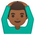 Man Gesturing OK: Medium-Dark Skin Tone on Google Android 9.0