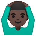 Man Gesturing OK: Dark Skin Tone on Google Android 9.0