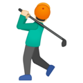 Man Golfing: Light Skin Tone on Google Android 9.0
