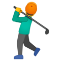 Man Golfing on Google Android 9.0