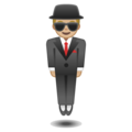 Man in Suit Levitating: Medium-Light Skin Tone on Google Android 9.0