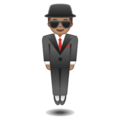 Man in Suit Levitating: Medium Skin Tone on Google Android 9.0