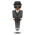 Man in Suit Levitating: Medium-Dark Skin Tone on Google Android 9.0