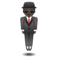 Man in Suit Levitating: Dark Skin Tone on Google Android 9.0