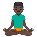 Man in Lotus Position: Dark Skin Tone on Google Android 9.0