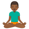 Man in Lotus Position: Medium-Dark Skin Tone on Google Android 9.0
