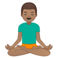 Man in Lotus Position: Medium Skin Tone on Google Android 9.0