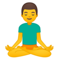 Man in Lotus Position on Google Android 9.0