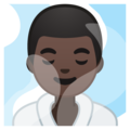 Man in Steamy Room: Dark Skin Tone on Google Android 9.0