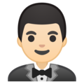 Man in Tuxedo: Light Skin Tone on Google Android 9.0