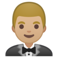 Man in Tuxedo: Medium-Light Skin Tone on Google Android 9.0