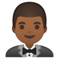 Man in Tuxedo: Medium-Dark Skin Tone on Google Android 9.0